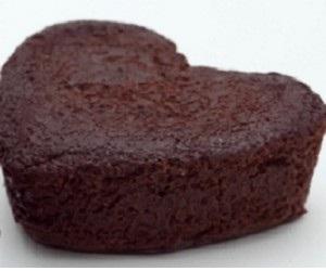 Tortino al cioccolato a forma ci cuore